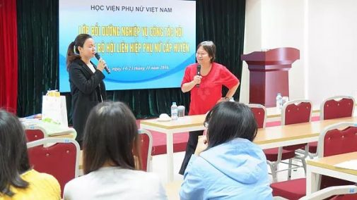 Project Director Chong Sheau Ching met with senior cadres of Vietnam Women Academy on November 22, 2016